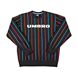 Umbro Herren Sweatshirt Malone Pin Stripe Sweat, Farbe:Black, Größe:2XL