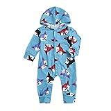 MEIbax Neugeborenes Baby Langarm mit Kapuze Fox Druck Spielanzug Overall Strampler Jumpsuits Kinderkleidung