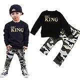MEIbax Baby Jungen Brief T-Shirt Tops + Camouflage Hosen Outfits Kleidung Set Langarmshirt Bodys Einteiler Overall