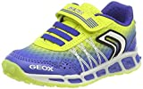 Geox Jungen J Shuttle Boy B Sneaker, Blau (Royal/Lime), 35 EU