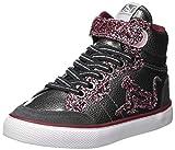 DrunknMunky Mädchen Boston Glitter Hohe Sneaker, Grau (Gray Purple B63), 32 EU