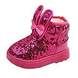 Sannysis Winter Warm Stiefel Kinder Baby Mädchen Kaninchen Ohr Blings Pailletten Schnee Stiefel Warme Schuhe Schneestiefel Winterstiefel