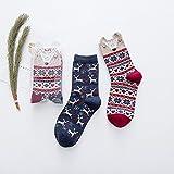 Wanglele Herbst und Winter Baumwolle Socken, Stickerei, Stickerei, Damen Socken, Schweiß, atmungsaktiv, Deodorant, Anti Friction Socken, zehn Paare, 50 000 180