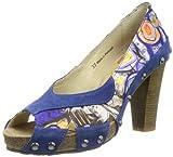 Stork Steps HandBag A5, Damen Pumps, Mehrfarbig (Blue), EU 40