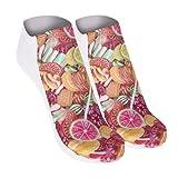 Funny Socks Damen Motive Festival Cool Blogger Füßlinge Style Allover Print Fullprint Sneaker Sportsocken Socken Onesize LOLLIPOP