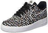 Nike Herren Air Force 1 '07 Lv8 JDI Sneakers, Mehrfarbig Black/White/Total Orange 001, 40.5 EU