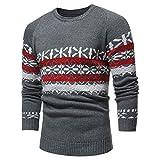 Sannysis Strickpullover Herren Sweater Sweatshirt Pulli Herbst Winter Pullover Strickjacke Mantel Print Jacke Outwear
