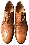PAUL SMITH 'PS SAMMLUNG' HELLBRAUNES LEDER CARSON OXFORD BROGUE HALBSCHUHE UK 7 EU 41