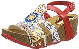 Desigual Damen Shoes_ODISEA Microrapport Slingback Sandalen, Mehrfarbig (3061 Rojo Roja), 40 EU