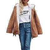 Sonnena Jacke Damen Wollmantel Hoodie Sweatshirt Pullover Oberteile Kapuzenpullover Winter Warm Pulli Zip up Kapuzen Jacke