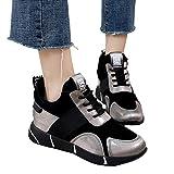 MYMYG Sneakers Damen Turnschuhe Plattform Sportschuhe Laufschuhe Flache Laufende Breathable Turnschuhe Casual Breathable Fitness Atmungsaktiv Schuhe