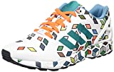 adidas Originals ZX Flux S79096, Herren Low-Top Sneaker, Schwarz (FTWR White/FTWR White/Solar Orange), EU 44