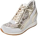 Geox Damen D Nydame A Hohe Sneaker, Elfenbein (Off White), 37 EU