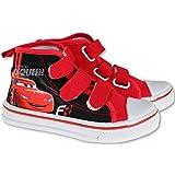 Disneyy Cars Lightning McQueen - Kinder Sportschuhe -Jungen Chucks Sneaker - Canvas (EU33)