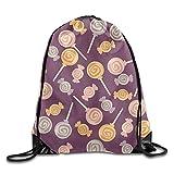PGTry Lollipop Rucksack mit Kordelzug, 100% Polyester, leicht zu Waschen, Brillante Farben, 40,6 x 35,6 cm, für Damen und Herren