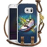 DeinDesign Samsung Galaxy S6 Edge Carry Case Hülle zum Umhängen Handyhülle mit Kette Shoes Schuhe Sneaker