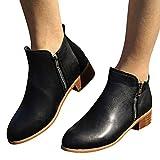 SUNNSEAN Damenstiefel Stiefeletten Damen Kurze Stiefeletten Leder Ritter Martin Stiefel Schuhe Stiefel Casual Boots Mode Freizeit Einzelne Schuhe