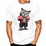 DAY.LIN T Shirts Männer Herren Männer T-Shirts drucken Hemd Kurzarm T-Shirt Bluse Herrenmode Print T-Shirt (L=EUM)