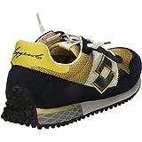 Lotto Leggenda S8854 Sneakers Herren Wildleder / Textil Blau/Gelb Blau/Gelb 40