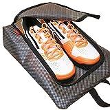 Gloryhonor Reiseaufbewahrung für Schuhe, wasserdichter durchsichtiger Taschen-Organizer mit Reißverschluss,blau, grau