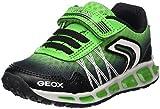 Geox Jungen J Shuttle Boy B Sneaker, Schwarz (Black/Green), 32 EU