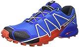 Salomon Speedcross 4 Herren Trailrunning-Schuhe, Blue Yonder/Black/Lava Orange, 45 1/3 EU