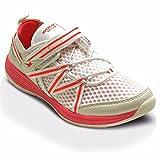 GOLA Damen Fitnessstudio Sport Active Klettband Damen Netz Turnschuhe Größe 3-8 - weiß rosa, EU 38