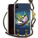 DeinDesign Apple iPhone Xr Carry Case Hülle zum Umhängen Handyhülle mit Kette Shoes Schuhe Sneaker