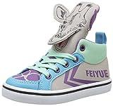 Feiyue Unisex-Kinder Delta Mid Animal Low-Top, Mehrfarbig-Multicolore (Grey/Blue/Purple/Mint), 21 EU