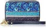 Desigual Damen Mone_nuria Extraordinary Exoti. 5006. U Geldbörse, Blau (Navy), 2x9.5x14 cm