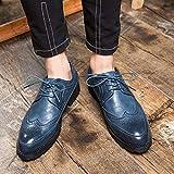 AIMENGA Herrenschuhe Herrenschuhe Extra Große Herrenschuhe Business Casual Pointer, Blau, 40