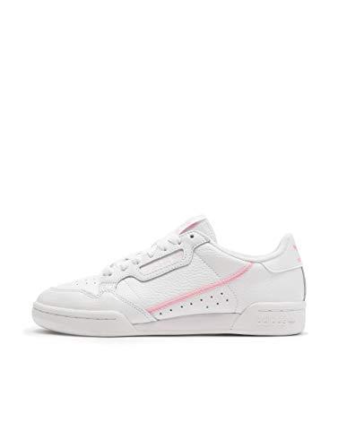 adidas Damen Continental 80 W Fitnessschuhe, Mehrfarbig (Ftwbla/Rosaut/Ros Cl A 000), 39 1/3 EU