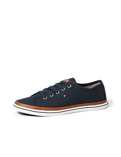 Tommy Hilfiger Damen K1285ESHA 6D Sneaker, Blau (Midnight 403), 39 EU