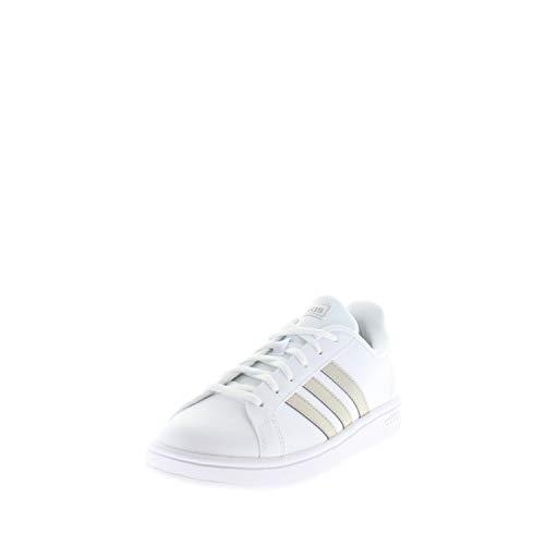 adidas Damen Grand Court Base Sportschuhe, Weiß Metallic, 39 1/3 EU
