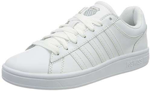 K-Swiss Damen Court Winston Sneaker, White/White, 39 EU
