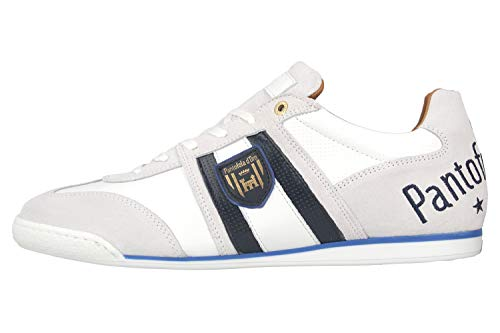 Pantofola d'Oro Imola Scudo NB Uomo Low Sneaker in Übergrößen Weiß 10201047.1FG/10201071.1FG große Herrenschuhe, Größe:49