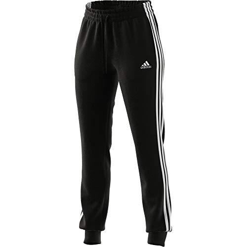 adidas Damen Essentials French Terry 3-Streifen Trainingshose, Black/White, M