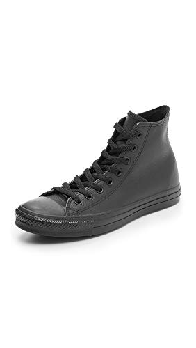Converse Chucks Taylor All Star Hi Leder, Unisex - Erwachsene Sneaker, Schwarz (Black Mono 001), 36.5 EU