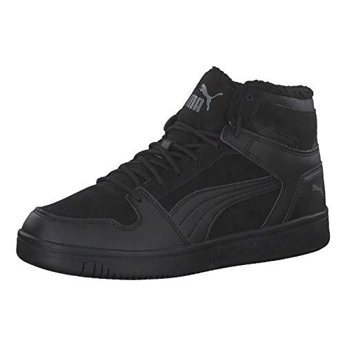 PUMA Unisex Rebound Layup SD Fur Sneaker, Black-Castlerock, 46 EU