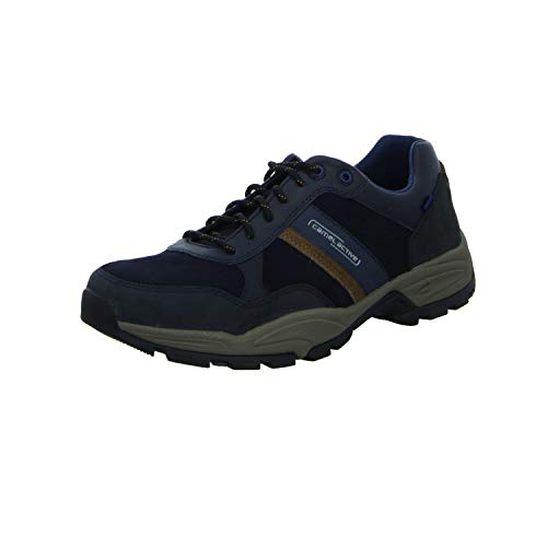 camel active Evolution, Herren Low-Top Sneaker, Blau (midnight/timber 02), 44 EU (9.5 UK)