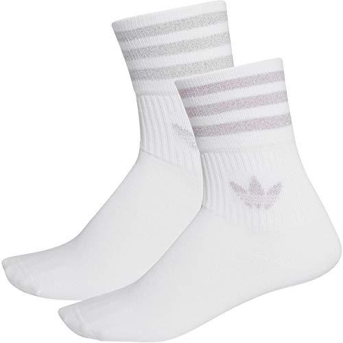 adidas Originals Socken Doppelpack MID CUT GLT SCK FL9685 weiss / Streifen silber+hell flieder, M