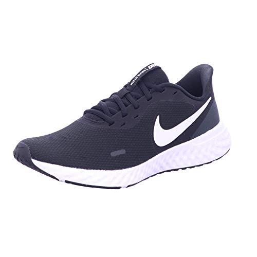 Nike Herren Revolution 5 Sneaker, Schwarz Black White Anthracite, 42.5 EU