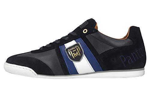 Pantofola d'Oro Imola Scudo NB Uomo Low Sneaker in Übergrößen Blau 10201047.29Y/10201071.29Y große Herrenschuhe, Größe:46