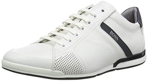 BOSS Herren Saturn Lowp Sneakers aus Glattleder mit speziellem Innenfutter Größe 44