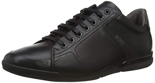 BOSS Herren Saturn Lowp Sneakers aus Glattleder mit speziellem Innenfutter Größe 42