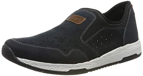 Rieker Herren B9465-15 Slip On Sneaker, Blau (Pazifik/Pazifik/Mogano/Schwarz 15), 46 EU