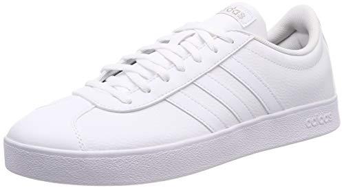 adidas Damen VL Court 2.0 Fitnessschuhe, Weiß (Ftwbla/Ftwbla/Ciberm 000), 39 1/3 EU