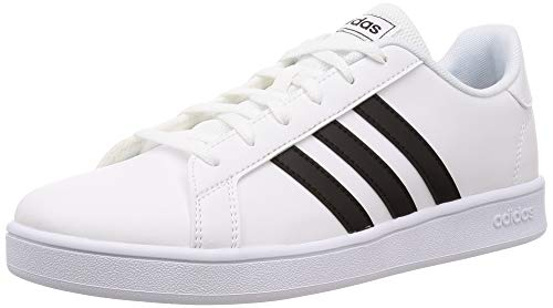 Adidas Unisex-Kinder Grand Court K Tennisschuh, ftwr white/core black/ftwr white, 38 EU
