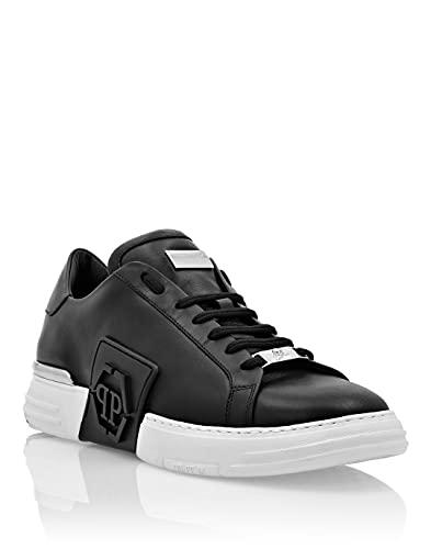 Philipp Plein Herren Phantom Kick$ Lo-Top Leather Hexagon Schwarz 42