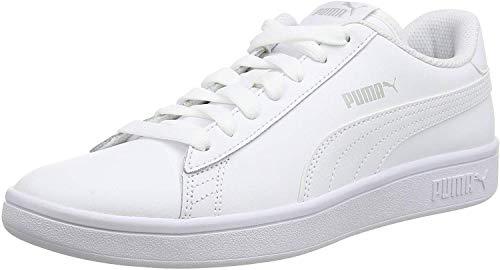 PUMA Unisex Smash V2 L 251 Sneaker, White White, 43 EU